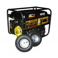 Бензиновый генератор DY6500LX Huter с колесами и аккумулятором